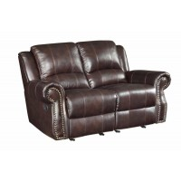 SIR RAWLINSON MOTION COLLECTION - Sir Rawlinson Tobacco Leather Reclining Loveseat