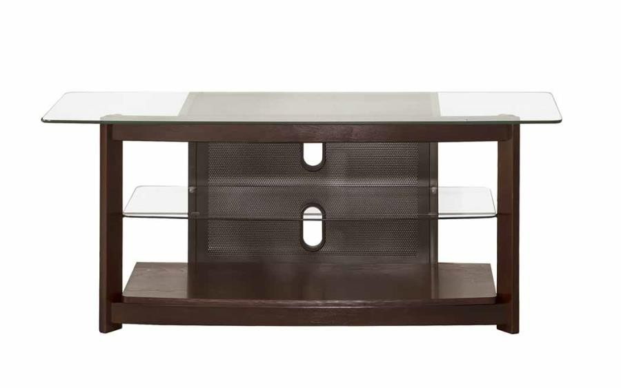 LIVING ROOM : TV CONSOLES - Dark Brown TV Console
