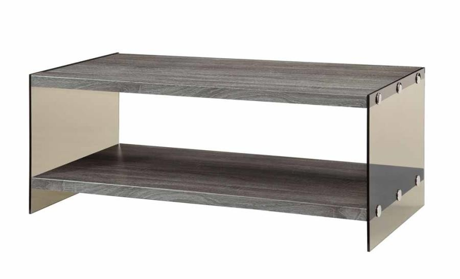 LIVING ROOM: WOOD TOP OCCASIONAL TABLES   Rustic Grey Coffee Table
