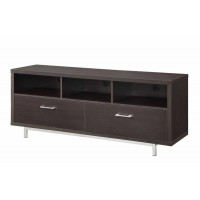 LIVING ROOM : TV CONSOLES - Transitional Cappuccino TV Console