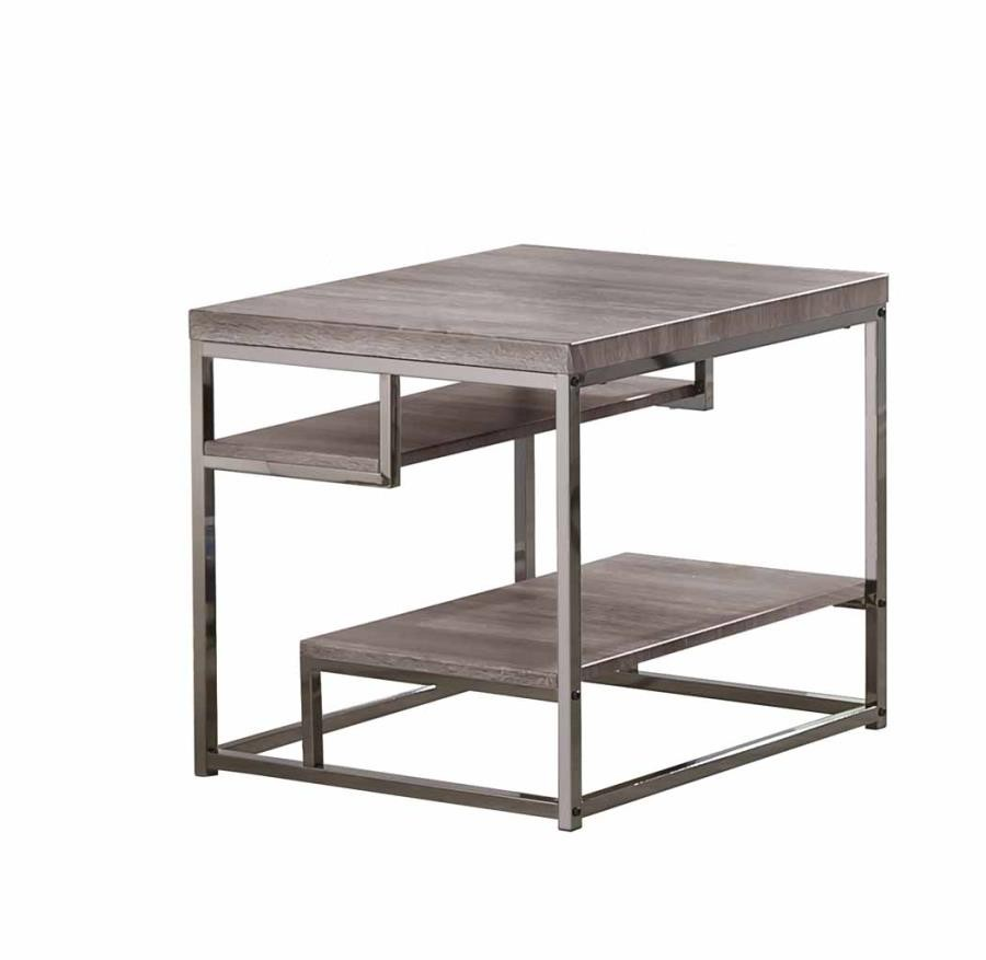 LIVING ROOM: WOOD TOP OCCASIONAL TABLES - END TABLE   703727   End ...