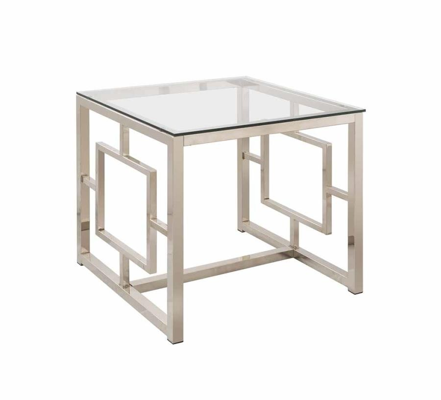 LIVING ROOM: GLASS TOP OCCASIONAL TABLES - Occasional Contemporary ...