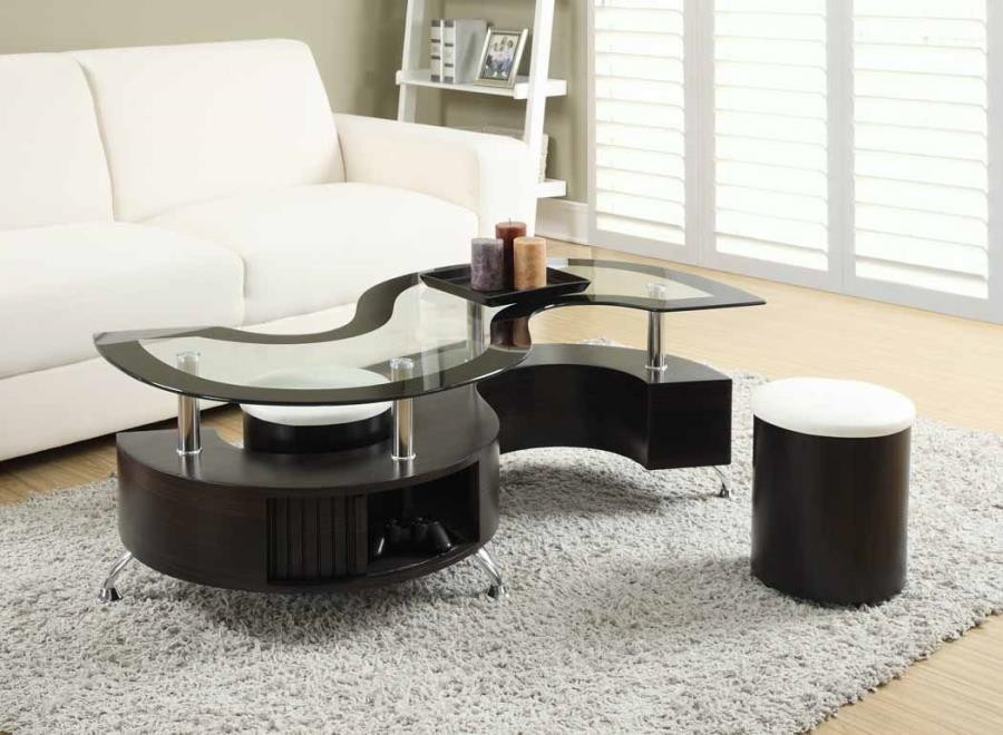 Delange Motion Collection Delange Motion White Coffee Table