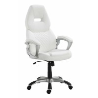 HOME OFFICE : CHAIRS - Contemporary White Office Chair