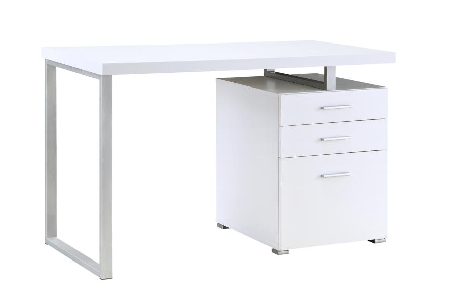 BRENNAN DESK - Contemporary White Writing Desk