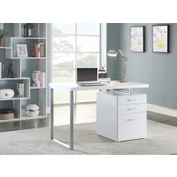 BRENNAN DESK - Contemporary White Writing Desk