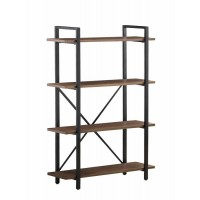 HOME OFFICE : BOOKCASES - Industrial Walnut Bookcase