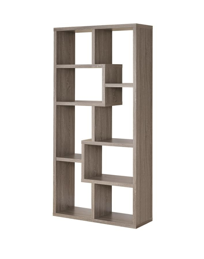 HOME OFFICE : BOOKCASES   Contemporary Weathered Grey Bookcase