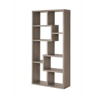 HOME OFFICE : BOOKCASES - Contemporary Weathered Grey Bookcase