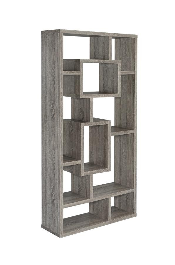 Home Office Bookcases Contemporary Weathered Grey