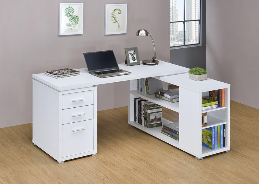 YVETTE COLLECTION - Yvette White Executive Desk