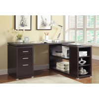 YVETTE COLLECTION - Yvette Cappuccino Executive Desk