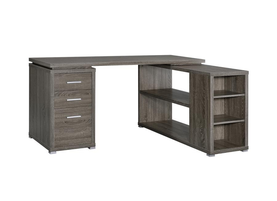 Ordinaire YVETTE COLLECTION   Yvette Weathered Grey Executive Desk