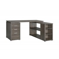 YVETTE COLLECTION - Yvette Weathered Grey Executive Desk