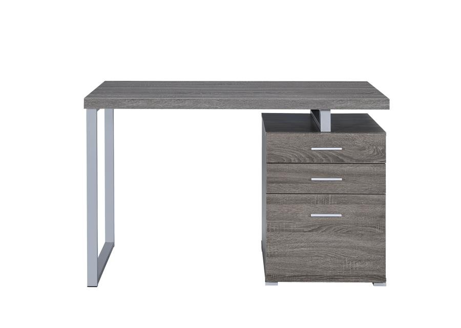 home office desks   contemporary weathered grey writing