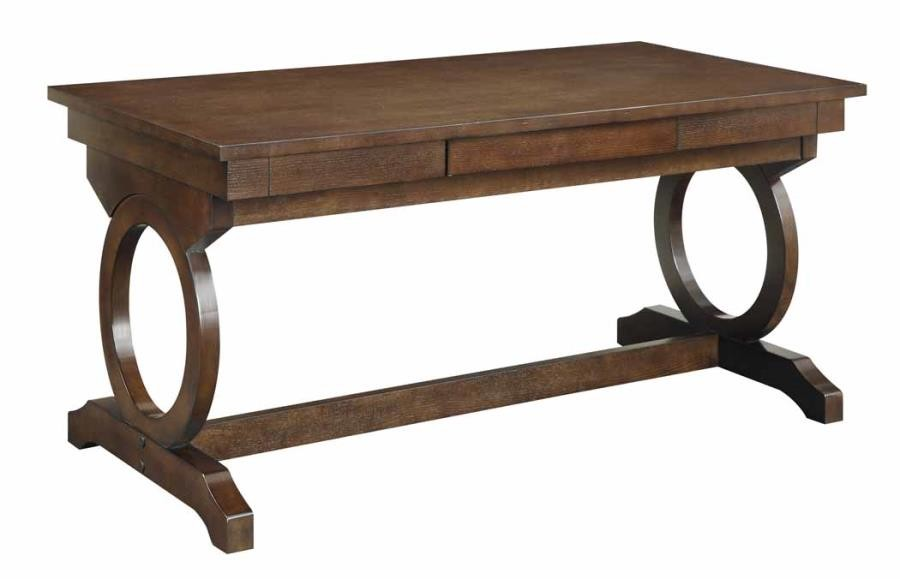 aspen oak writing desk desks alphason home office