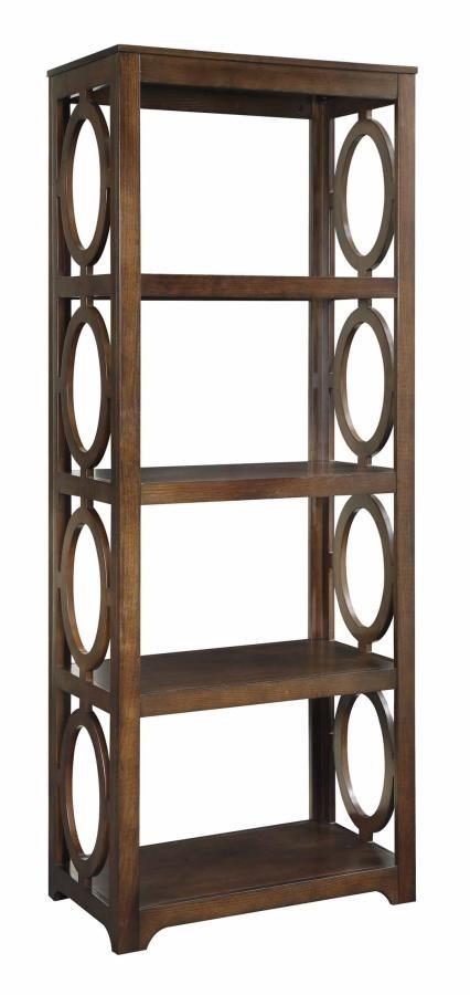 ENEDINA COLLECTION - Enedina Transitional Chestnut Bookcase