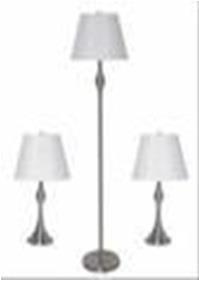 Transitional Nickel Lamp