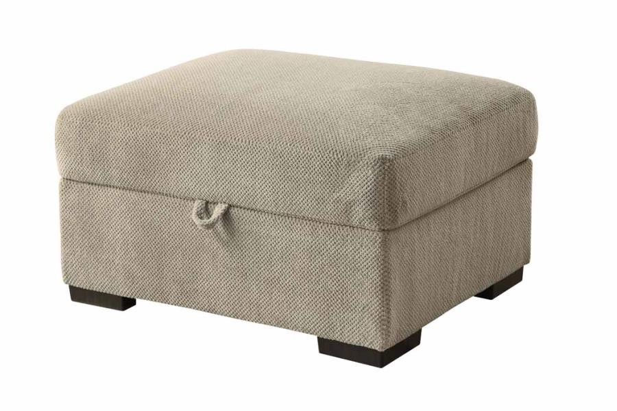 Stupendous Olson Sectional Olson Taupe Storage Ottoman Onthecornerstone Fun Painted Chair Ideas Images Onthecornerstoneorg