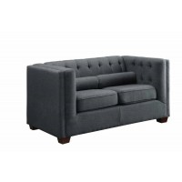 CAIRNS COLLECTION - Cairns Transitional Charcoal Loveseat