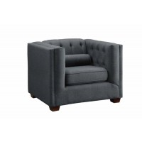 CAIRNS COLLECTION - Cairns Transitional Charcoal Tufted Back Chair