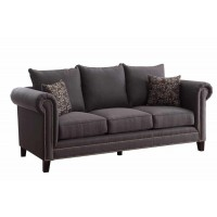 EMERSON COLLECTION - Emerson Transitional Charcoal Sofa