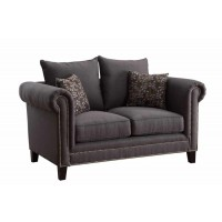 EMERSON COLLECTION - Emerson Transitional Charcoal Loveseat