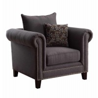 EMERSON COLLECTION - Emerson Transitional Charcoal Chair