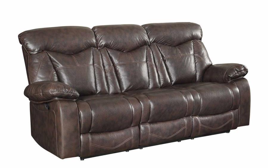ZIMMERMAN MOTION COLLECTION - Zimmerman Casual Dark Brown Motion Sofa
