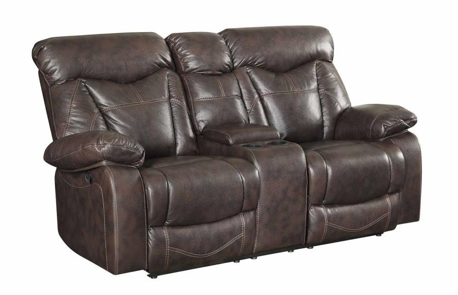 ZIMMERMAN MOTION COLLECTION - Zimmerman Casual Dark Brown Motion Loveseat