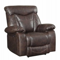 ZIMMERMAN MOTION COLLECTION - Zimmerman Casual Dark Brown Glider Recliner