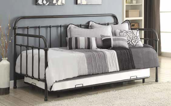 TWIN METAL DAYBED - Dark Bronze Metal Daybed
