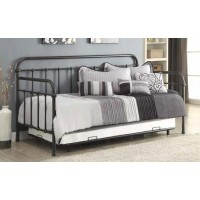 TWIN METAL DAYBED - DAYBED W/ TRUNDLE