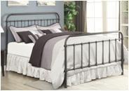 LIVINGSTON METAL BED - QUEEN BED