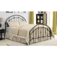 ROWAN METAL BED - Maywood Transitional Black Metal Queen Bed