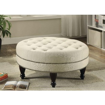 ACCENTS : OTTOMANS - Traditional Round Cocktail Ottoman