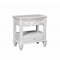 CAROLINE COLLECTION - Caroline White Nightstand