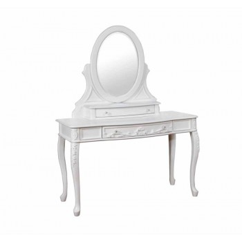 CAROLINE COLLECTION - Caroline White Vanity Mirror