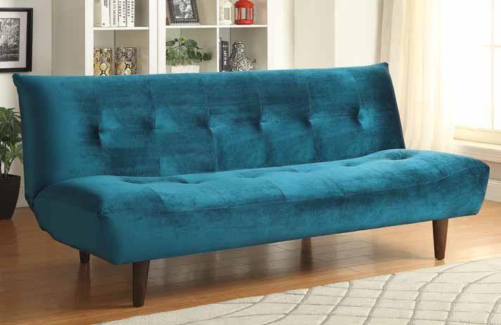 LIVING ROOM : SOFA BEDS - Teal Velvet Sofa Bed