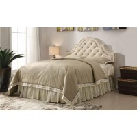 OJAI HEADBOARD - Ojai Traditional Beige Upholstered Queen Headboard
