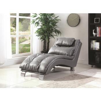 DILLESTON COLLECTION - Dilleston Contemporary Grey Chaise
