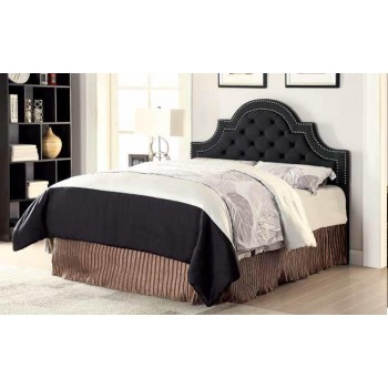 OJAI HEADBOARD - Ojai Traditional Charcoal Upholstered Queen Headboard