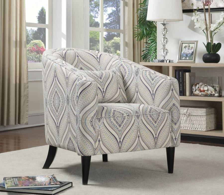 CLAXTON COLLECTION - Claxton Traditional Multi-Color Accent Chair