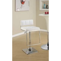REC ROOM/BAR STOOLS: HEIGHT ADJUSTABLE - Contemporary Chrome Adjustable Bar Stool