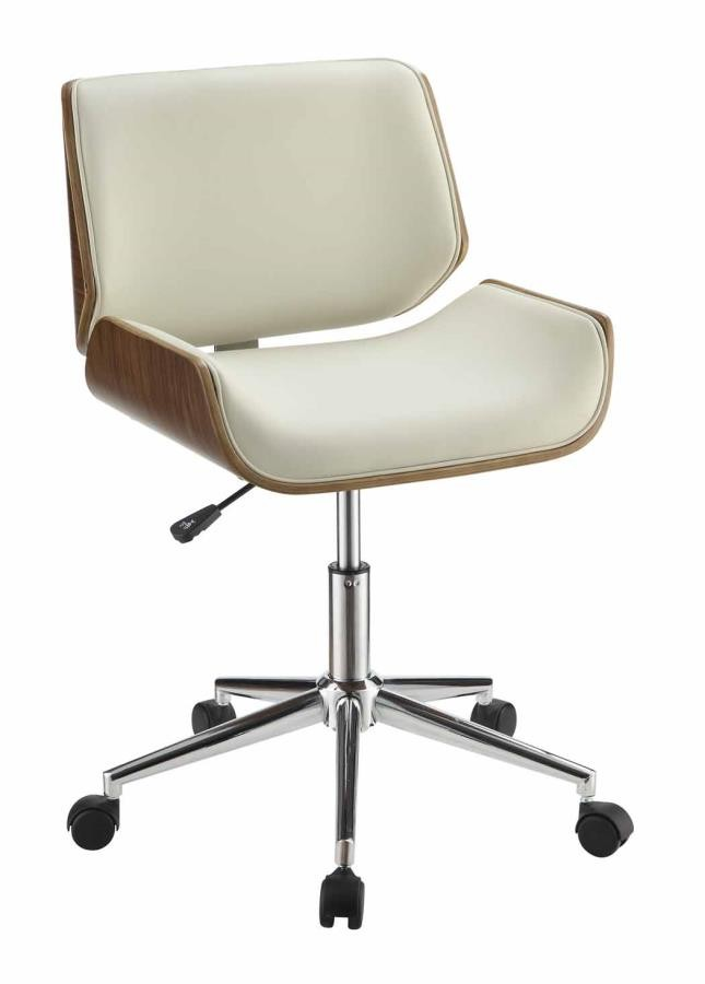 Home Office Chairs Modern Ecru Office Chair 800613 Home Office Desk Chair Above And Beyond Furniture Superstore