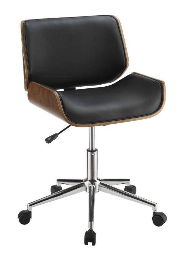 Home Office Chairs Modern Black Office Chair 800612 Home Office Desk Chair Midtown Outlet Home Furnishings