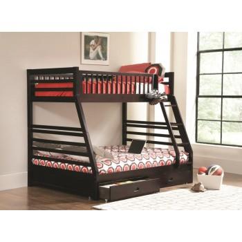ASHTON COLLECTION - Ashton Cappuccino Twin-over-Full Bunk Bed