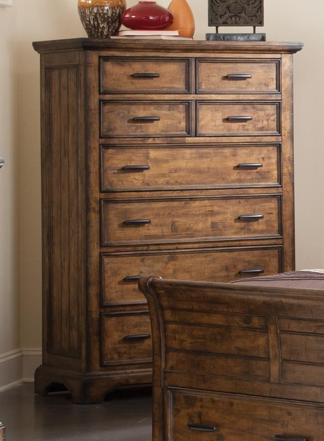 ELK GROVE COLLECTION - Elk Grove Rustic Eight-Drawer Chest