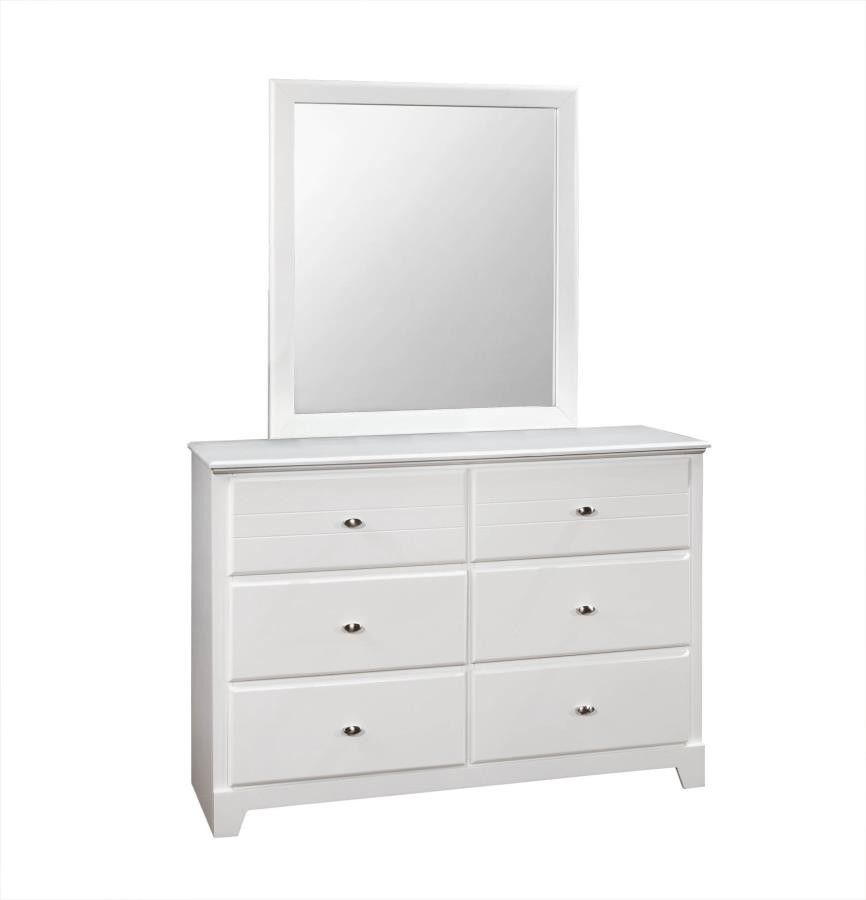 ASHTON COLLECTION - Ashton Transitional White Mirror