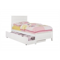 ASHTON COLLECTION - Ashton Transitional White Trundle